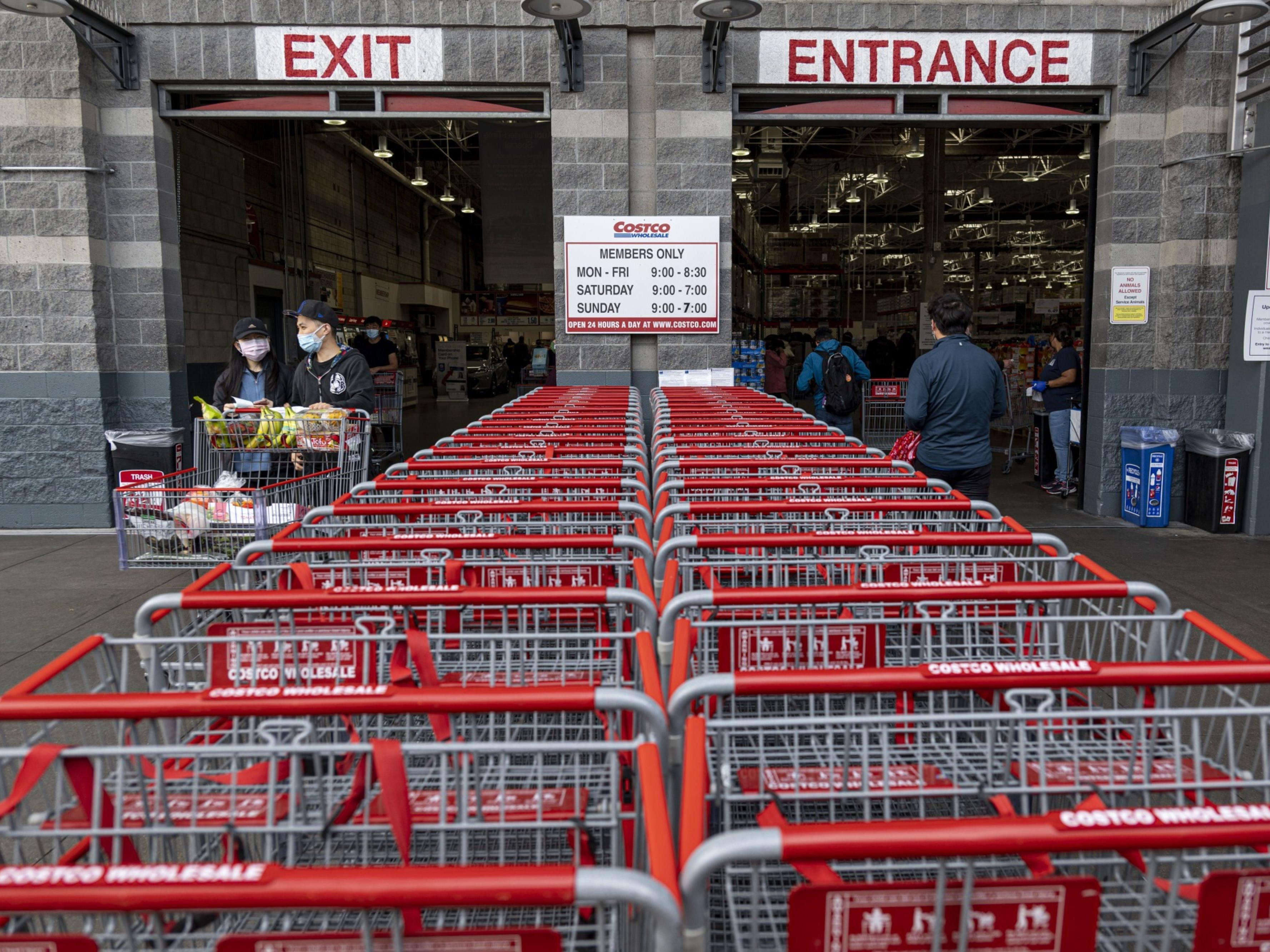 Costco shopping carts