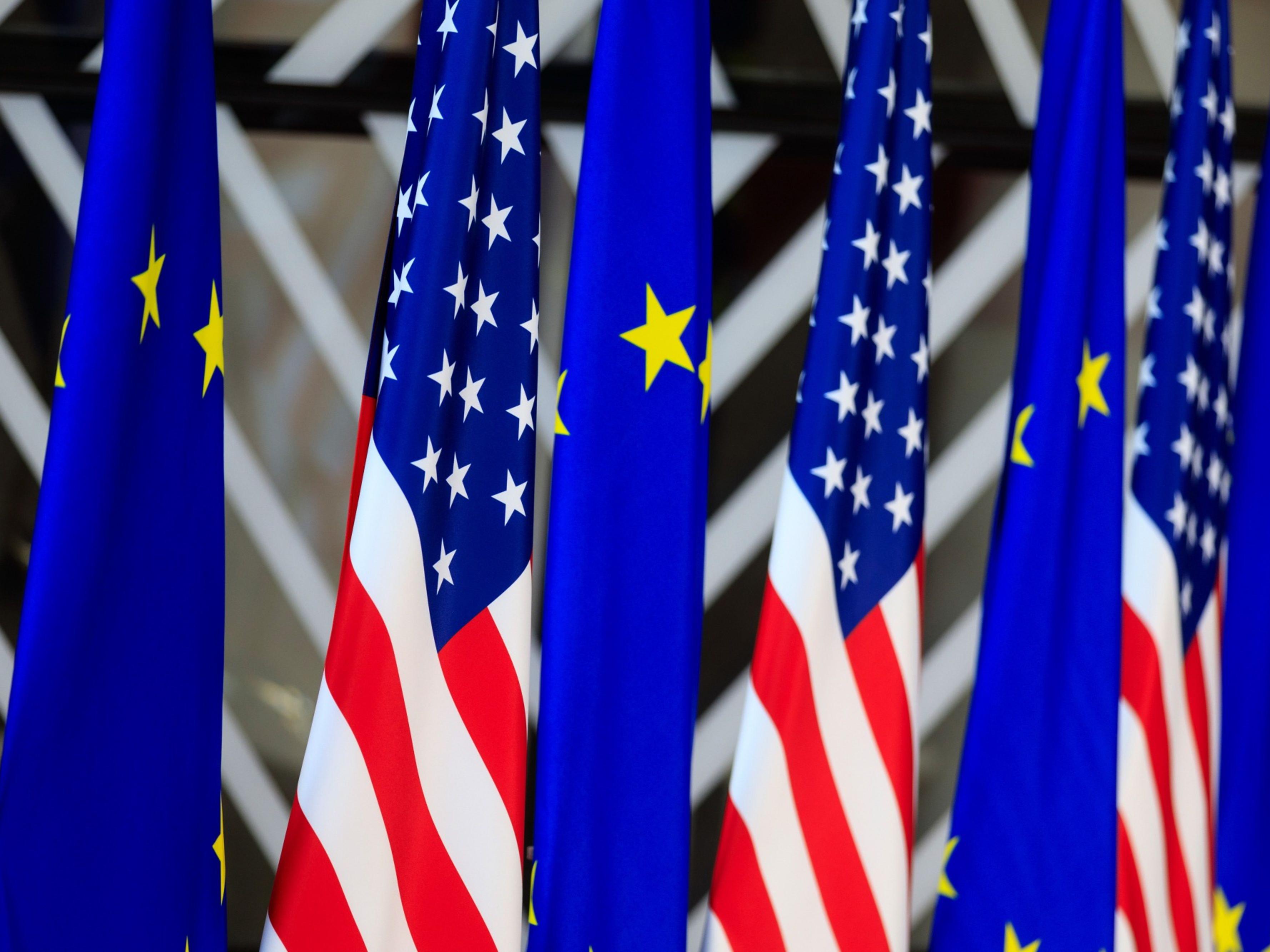 U.S. and EU flags