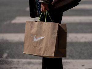 Nike shopping bag