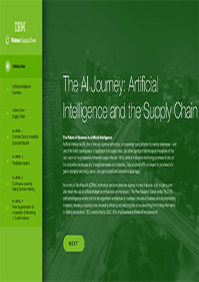 The AI Journey – Artificial Intelligence and the Supply Chain