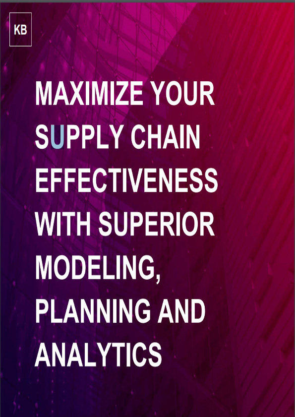 Knowledge Brief – Maximize your supply chain effectiveness with superior modeling, planning and analytics