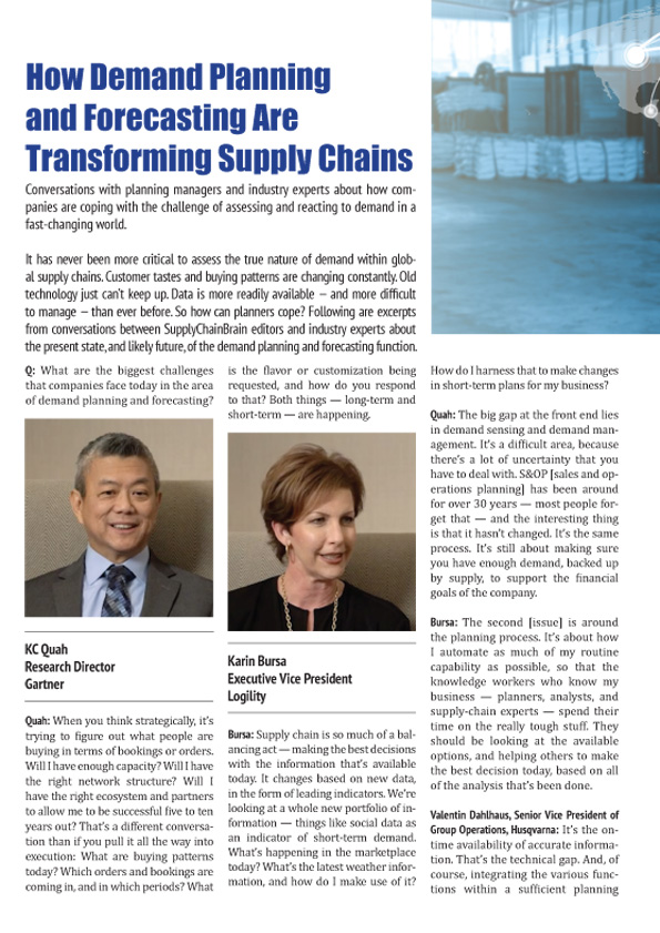 How Demand Planning and Forecasting Are Transforming Supply