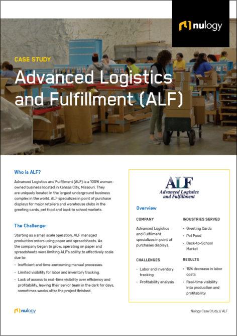 Case Study Advanced Logistics and Fulfillment (ALF)