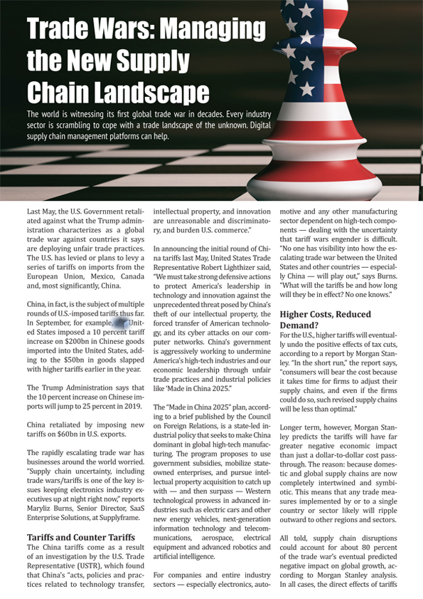 Trade Wars: Managing the New Supply Chain Landscape | 2018-11-26