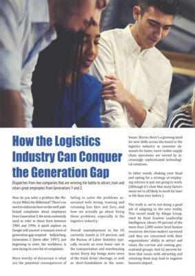 How the Logistics Industry Can Conquer the Generation Gap
