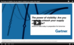 Gartner On Demand Webinar: The Power of Visibility: Are you ready to unleash your supply chain data?