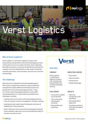 Verst Logistics Case Study