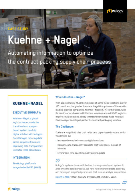 Kuehne & Nagel Case Study: Automating Information to Optimize the Contract Packing Supply Chain Process