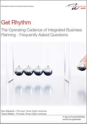 Get Rhythm - The Operating Cadence of Integrated Business Planning - Frequently Asked Questions