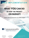WMS Implementation-What YOU Can Do to Keep the Project on Budget