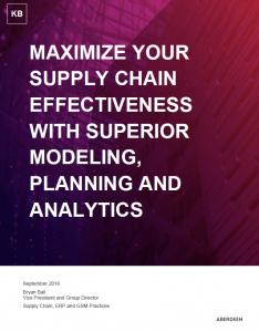 Aberdeen Supply Chain Knowledge Brief