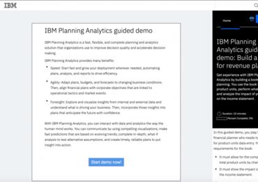 Ibm planning analytics demo