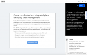 Planning Analytics Supply Chain Guided Demo