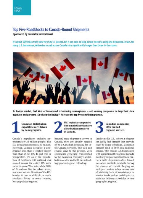 Top 5 Roadblocks to Canada-Bound Shipments