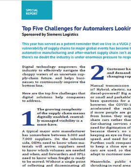 Siemens top five challenges