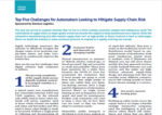 Top Five Challenges for Automakers Looking to Mitigate Supply-Chain Risk