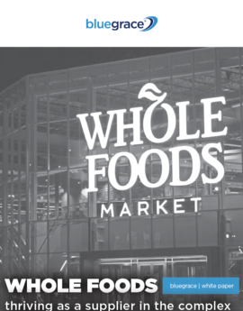 Bluegrace wholefoods thriving as a supplier